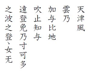 百人一首(12)天津風雲の通ひ路吹きとぢよ乙女の姿しばしとどめむ