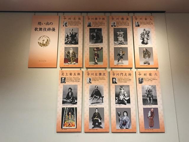歌舞伎座タワー4階 想い出の歌舞伎俳優